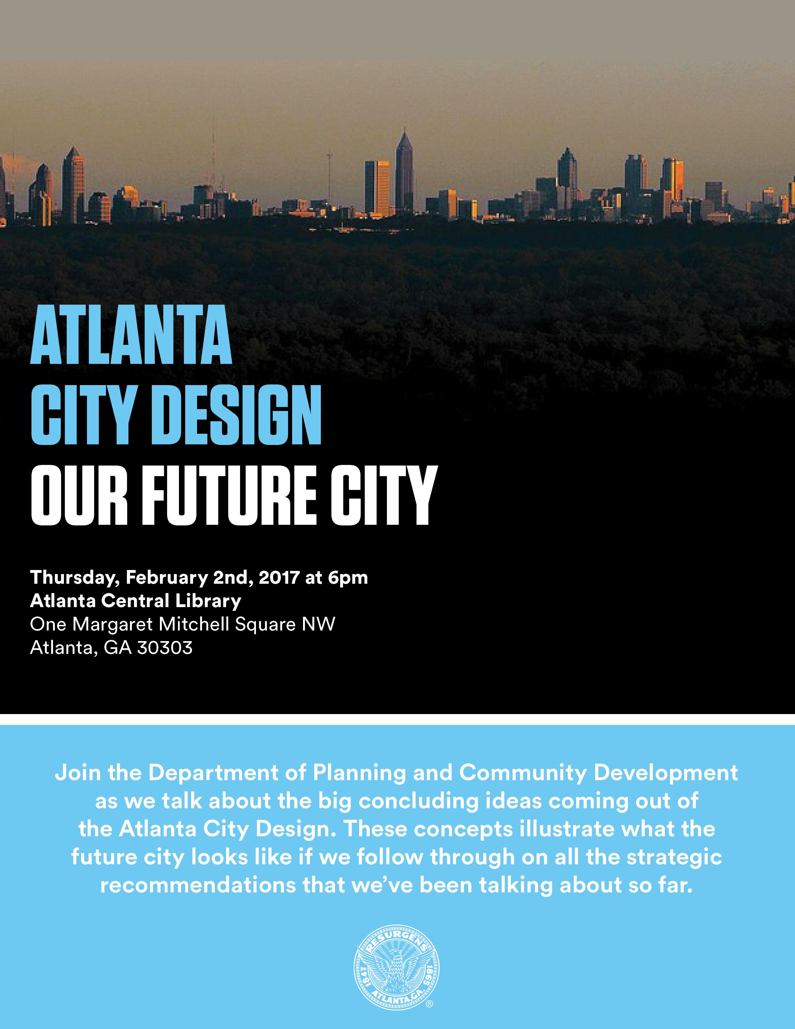 Atlanta City Design Meeting Feb 2017 Flyer Aia Atlanta