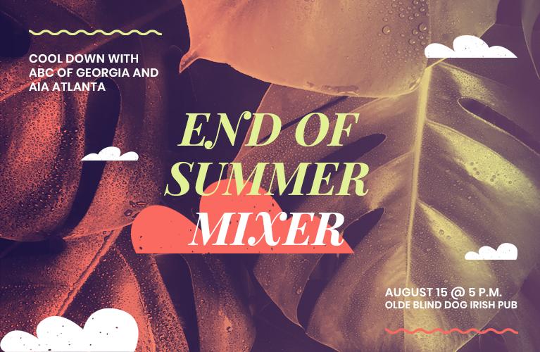 End of Summer Mixer